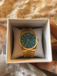 Gold tone Michael Kors watch