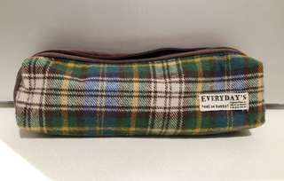 Small checkered pencil case