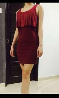 P & Co Dress - Maroon