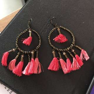 Mango Tribal Tassel Earrings