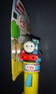 日本購 絕版 Thomas 糖果棒 有火車聲 糖果盒 公仔頭