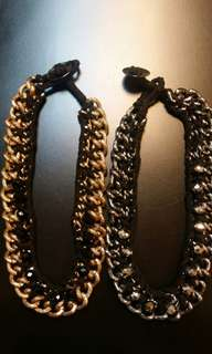 Necklace colour gold, silver