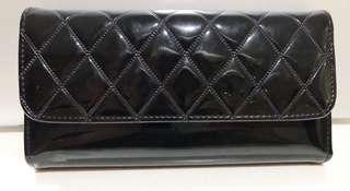 Black shiny wallet