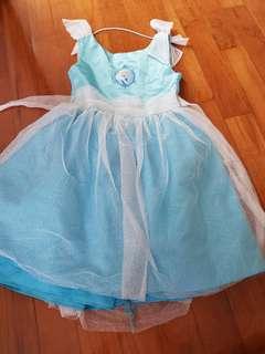 Cinderella dress blue glitter