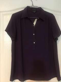 Essenxa chiffon collared blouse small used 2x srp 895