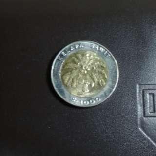 Uang Rp1000 kelapa sawit tahun 1995