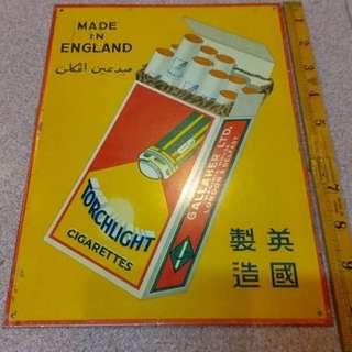 Vintage Tin Signage Malaya England NOS levis rolex nike adidas