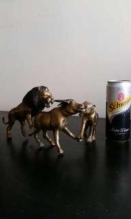 Bronze African animal action figurine