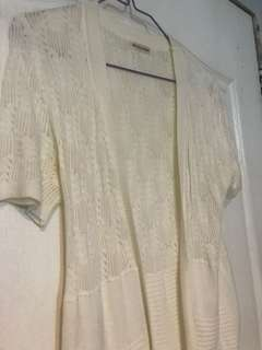 Knit top cardigan white small to med used 2x srp 800