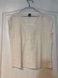 Bayo textured linen top white size L EUC srp 900+