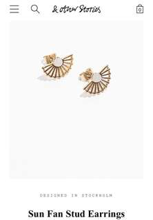 🚚 & other stories stud earrings