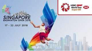 HSBC BWF WORLD TOUR SUPER 500 - Singapore Badmintion Open 2018