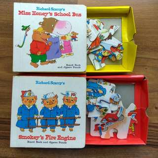 $3.80 puzzle storybooks richard scarry complete with all pieces of jigsaw inside 2for$7.60 (or$5.90each)