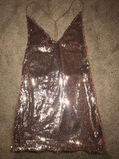 Sequin Vneck Dress