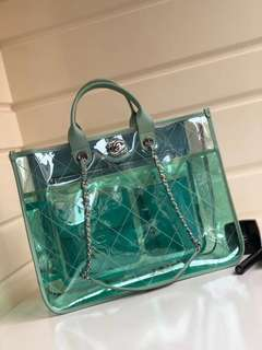 Chanel Large and Lambskin Multicolor Pvc Tote