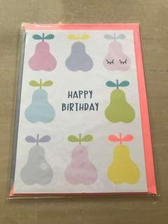 Brand new birthday card from kikki