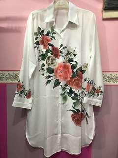 Rose Printing Tunic