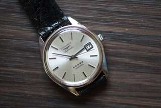 Vintage Longines admiral 5 stars , 36mm diameter , stainless amd mint condition.