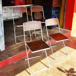 Old kopitiam Folding Chairs