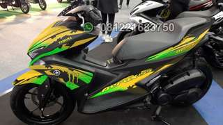 Decal aerox kuning brus