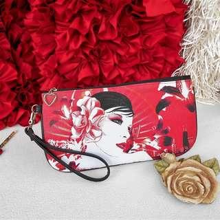 CLUTCH BAG Red Black White Art Wristlet Pouch – NEW