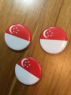 #Blessing Singapore collar pin (3pcs)