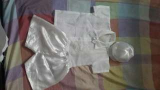 Baptismal dress for baby boy