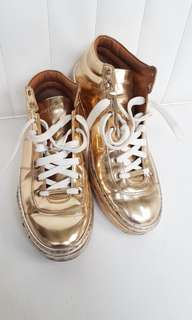 Authentic sneakers jimmychoo gold