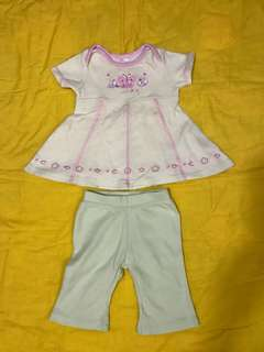 Baby dress top with leggings