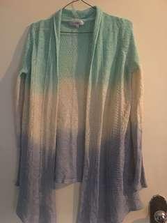 Coloured cardigan
