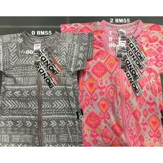 Bonds Zip Wondersuit Short Sleeves Size 00 0 1 2