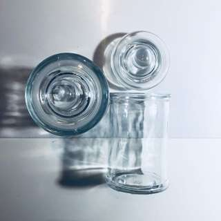 2 Pieces of Glass Mason Jars with Lids