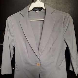 light blue blazer