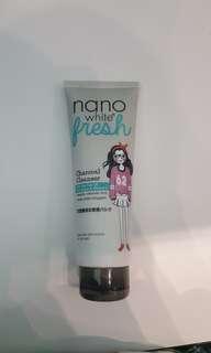 nano white fresh charcoal cleanser