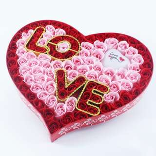 BN 99 Soap Roses Heart Giftbox