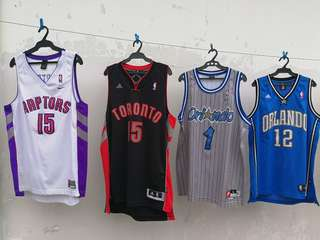Authentc Nike Adidas NBA Swingman Jersey Raptors Carter Tmac