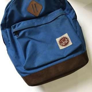Tas Backpack Biru Mid-Volume Mirip Herschel Heritage Backpack Mulus Murah