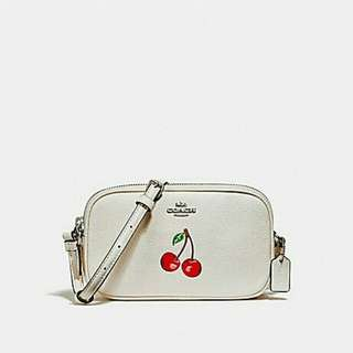 CROSSBODY POUCH WITH CHERRY COACH F25847 CHALK MULTI/SILVER