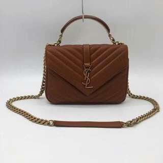 SAINT LAURENT  Collège medium quilted-leather shoulder bag