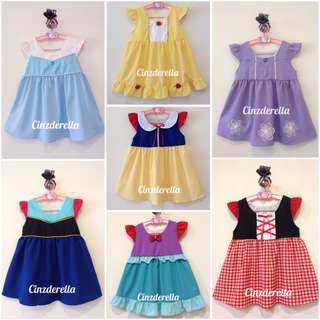 [Ready Stock] Brand New Disney Princess Fairy-tale Role-play Super Heros Costume Girls Dress
