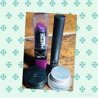 Lipstick,eye liner and eyebrow