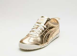 ASICS ONITSUKA TIGER MEXICO 66 LEATHER GOLD /GOLD WHITE ORIGINAL LIMITED EDITION
