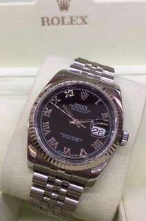 🆕👱‍♂️👱‍♀️Authentic Rolex Datejust Black Roman Dial 116234