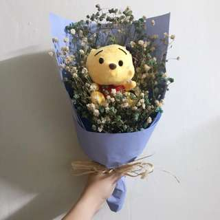 Graduation Bouquet Winnie the Pooh baby breath
