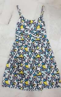 Blue colourful dress
