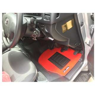2006 TO 2017 TOYOTA HIACE (FIFTH GEN) OEM FITMENT CAR FLOOR MATS..PVC CARPET MAT RED COLOR 2 PCS FRONT.