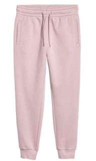 Light pink joggers sweatpants