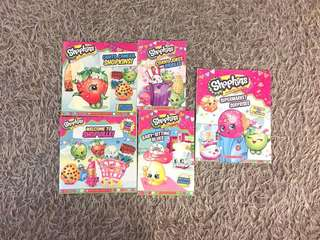 Shopkins books (5 titles) include postage