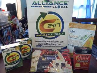 AIM GLOBAL EUTHENTIC C24/7 DIETARY SUPPLEMENT with free item burn tab/burnshake .careleaf