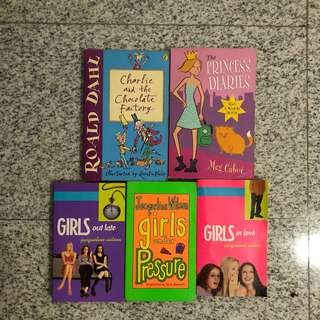 Ronald Dahl and Jacqueline Wilson books